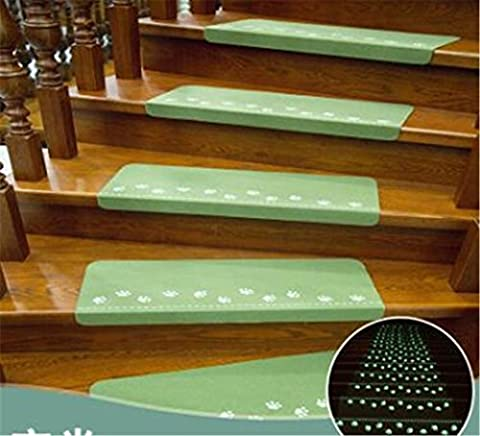 DDDBAY Luminous Anti-Skid Stair Pads Protection Tapis 5Piece Set (55 * 22 * 4.5cm) Hard-Wearing Cosy , A