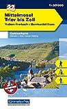 Outdoorkarte 22 Mittelmosel - Trier bis Zell 1 : 35.000: Wandern, Rad, Nordic Walking. Traben-Trabach, Bernkastel-Kues (Kümmerly+Frey Outdoorkarten Deutschland) -