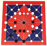 Spieltz 52191: Tonkin Brettspiel übergroß. Extra großer Spielplan, große Spielsteine (Gr. L, rot-blau). Gesellschaftsspiel für Senioren, Menschen mit motorischen Einschränkung + als Riesen-Spiel auf Veranstaltungen