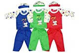 #5: Finger's Unisex Sleepsuit (Pack of 3) (Knight Suit 2_Blue-Green-Red_0-6 Months)