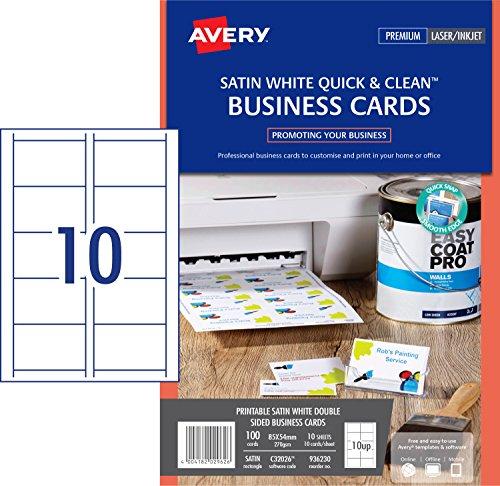Avery Visitenkarten für Laserdrucker, farbig