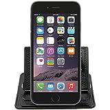 Support GPS et telephone portable – Stickypad – Tapis Collant Anti-Derapant / Anti-Glisse - compatibilité universelle - en Silicone pour tenir Telephone, Monnaie.. pour tableau de bord voiture.