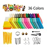Arcilla de Polimérica, 36 Colores Segura y No Tóxica Horno Bake Modelado Craft Set y Tutoriales,...