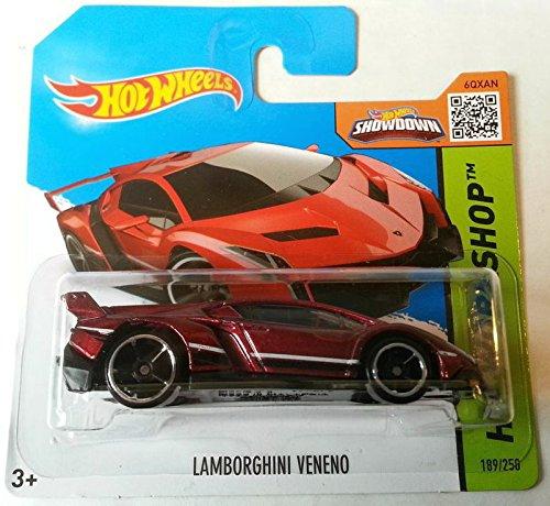 NEW Hot Wheels 2015 HW Workshop LAMBORGHINI VENENO RED 189/250 by Mattel