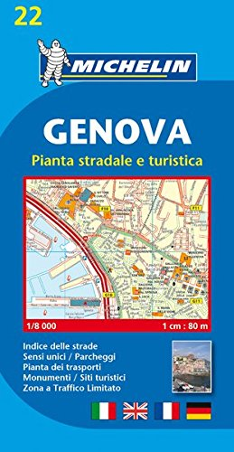 Genova City Plan 22: Localkarte (Michelin City Plans) par Michelin
