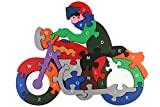 PIGLOO Wooden Bike Puzzle Toy with A-Z A...