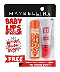 Maybelline New York Baby Lips, Winter Flush, 4.4g and Baby Lips, Candy Rush Orange Jujube, 4g