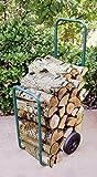 UPP® Bois Caddy/à bois pour cheminée/bois diable/Panier/chariot à bois Chariot/Diable/chariot de transport/jardin