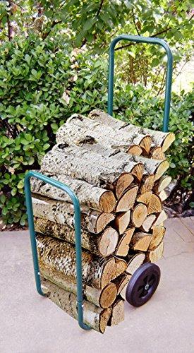 UPP® Holz Caddy /Kaminholzwagen/ Brennholzkarre/ Holzkorb/ Holzwagen/ Sackkarre/ Transportwagen/ Gartenwagen