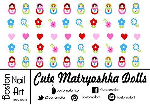 Cute Matryoshka Dolls Waterslide Nail Decals - 50pc by Boston Nail Art