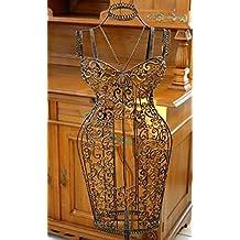 Maniquí de metal de hierro forjado busto del maniquí de sastre estilo antiguo