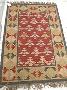 Bedouin Kilim Tapis 120 x 180 cm, 100% laine.