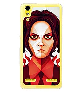 PrintVisa Angry Expression High Gloss Designer Back Case Cover for Lenovo A6000 Plus :: Lenovo A6000+ :: Lenovo A6000