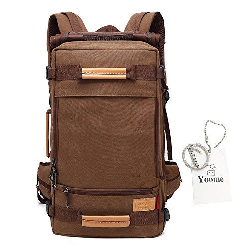 Yoome Reise-Rucksack für Männer Canvas Multifunktions-Rucksack 16-Zoll-Laptop Große Kapazitäten Schultertaschen Handtaschen Dayback Col...