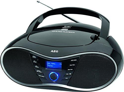Cd-radio Weckfunktion Mit (AEG SR 4380 Stereo-Radio/Boombox mit CD, DAB+, MP3, AUX-IN, 20 Senderspeicher, LED-Display)