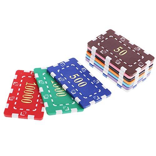 MagiDeal 10 Stück Poker Chips Casino Münzen Clay Poker Chips Glücksspiel Texas Table Game
