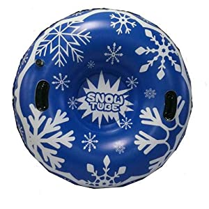 Schlitten: Aufblasbarer Schlitten Snow-Tube mit Griffen für Kinder und Erwachsene (Blau)
