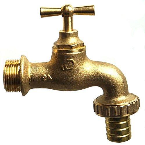 3/4 Zoll Alter Stil Jahrgang Vintage Messing Wasserhahn mit Schlauch Adapter