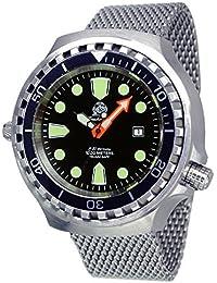 T0285-MIL Reloj grande automático, válvula de helio, zafiros,  correa milanesa, 52mm