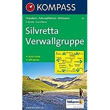 Carte touristique : Silvretta, Verwallgruppe