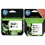 HP 364 4-pack Original Ink Cartridges Combo pack plus XL Black
