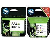 HP Lot de cartouches d'encre HP avec cartouches d'encre couleur HP364 et 1 cartouche...