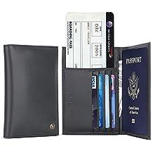 Portafoglio Passaporto Uomini/Donne,BELK Custodia del Passaporto in
