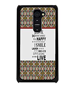 PrintDhaba Quote D-5755 Back Case Cover for LG G2 (Multi-Coloured)