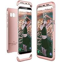 Funda Samsung Galaxy S8, CE-Link Carcasa Fundas para Samsung Galaxy S8, 3 en 1 Desmontable Ultra-Delgado Anti-Arañazos Case Protectora - Oro rosa