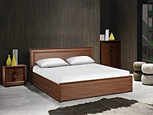 Hometown Stark King Size Bed With Box Storage Walnut Amazonin