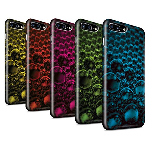 STUFF4 Glanz Snap-On Hülle / Case für Apple iPhone 8 Plus / Rosa Muster / Blasen/Tröpfchen Kollektion Pack 5pcs