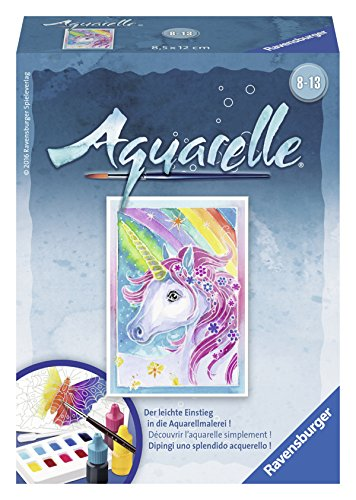Ravensburger Aquarelle 29185 - Malsets, Einhorn, Mini, 8,5 x 12 cm