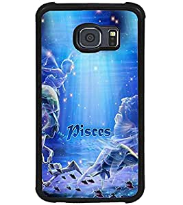 PRINTVISA Zodiac Pisces Case Cover for Samsung Galaxy S6 Edge