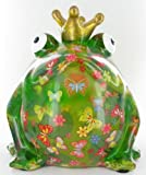 Money Box Large Frog King with Green Butterfly of Pidou-Pomme