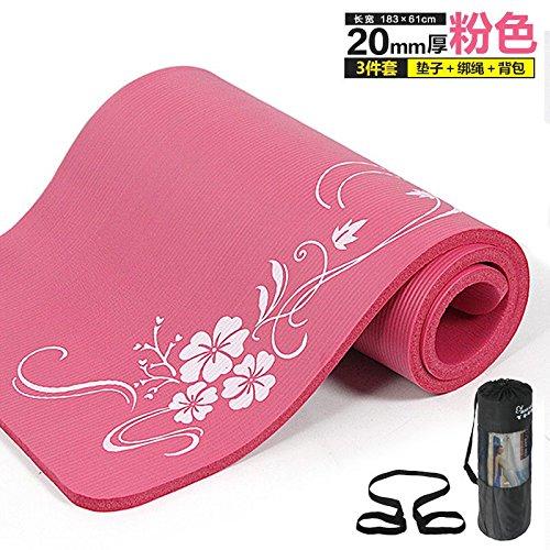 YOOMAT Esterilla de Yoga de 20 mm de Espesor la Comodidad y la Protección del Medio Ambiente Ejercicio Pad Camping colchón Suave en frío,Rosa