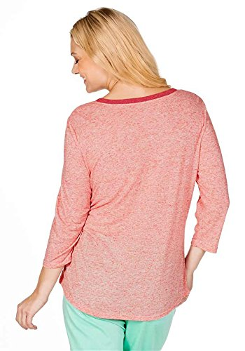 Sheego -  T-shirt - Opaco - Donna Rosso