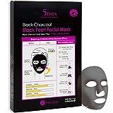 Maschera facciale al carbone nero da 5 giorni per elasticità della pelle, cura dei pori e umidità intensa (5 fogli) (Black Pearl)