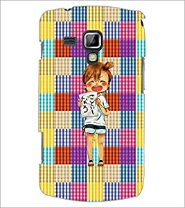 PrintDhaba Shouting Girl D-2608 Back Case Cover for SAMSUNG GALAXY S DUOS 2 S7582 (Multi-Coloured)