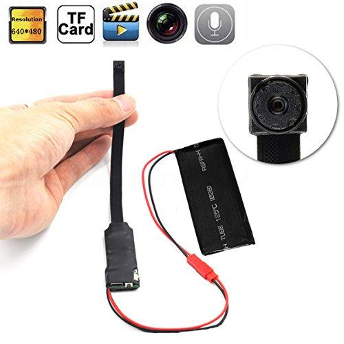 XuBa Caméra Espion sans Fil WiFi IP Caché Caméra Vidéo Numérique DIY Mini Micro DVR DV, Noir