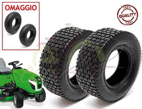 union 2 pneumatici + 2 camere d'aria 13 x 5.00-6 rinforzato per trattorino tosaerba gomme copertoni giardinaggio garden
