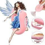 Paarvibrator Partner Vibratoren mit Sauger Funktion und Heizfunktion, Klitorisstimulator für Sie G-Punkt Stimulation mit Fernbedienung, 8 Vibrationsmodi und 6 Saugintensitäten, Doppeltem Motor (Rosa)