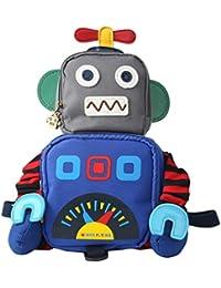 Y-BOA Sac à Dos De Sécurité Mignon Robot Enfant Fille Garçon Maternelle Backpack École Loisir
