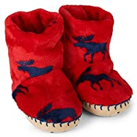 Hatley Slippers Fleece Moose Gathering