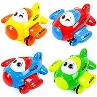 Isuper 1pz inercia Juguetes Juguetes Avión Infantil cartone Animato Avión Avión Juguetes Letras para Niños de 3+ Años (Color Aleatorio)