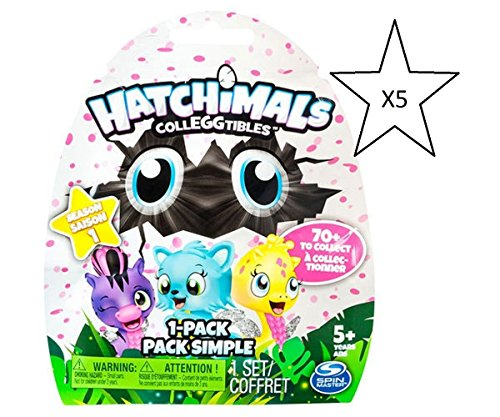 Hatchimals Colleggtibles Staffel 1 Blind Bag Bundle – 5 Packungen geliefert (Versand aus UK)