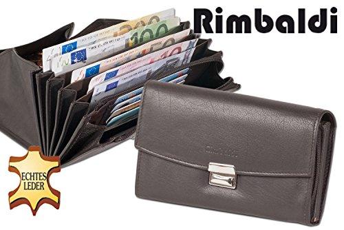 Rimbaldi - Senior Kellnerbörse con cassa in più moneta rinforzato in morbida pelle di vitello trattata Marrone