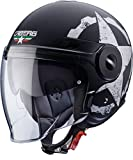 Caberg UPTOWN GEAR Motorrad Jethelm Thermoplast - matt schwarz weiss Größe L