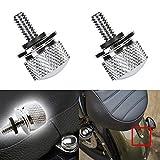 Taben 1/10,2cm 20Gewinde Harley Davidson Sitz Bolt Schraube Aluminium Billet-Chrom Motorrad Sitz (schwarz) (Pack von 2)