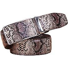 Naxxramas Serpent rayure boucle automatique ceinture véritable haute  qualité luxe mens ceintures b7d38c832bf