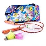#5: Elan BS-K-002 Badminton Racquet Set, Kids Pack of 3 (Orange)